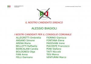 Lista Candidati PD al Consiglio Comunale